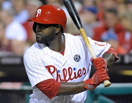 Tony Gwynn Jr at bat with Phillies